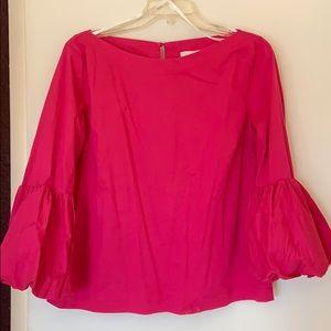 Hot pink long sleeve blouse